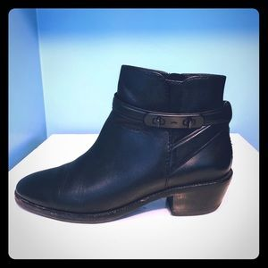 Coach Coleen black ankle booties